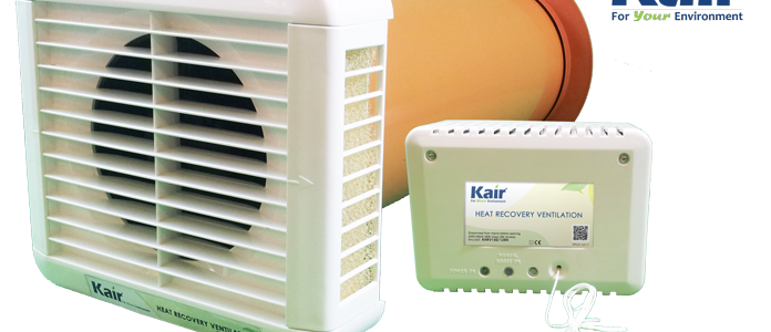 Kair Heat Recovery Room Ventilator K-HRV150
