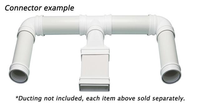 Plastic ducting connectors example