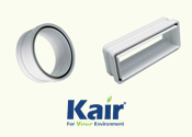 Kair FastSeal plastic ducting connectors